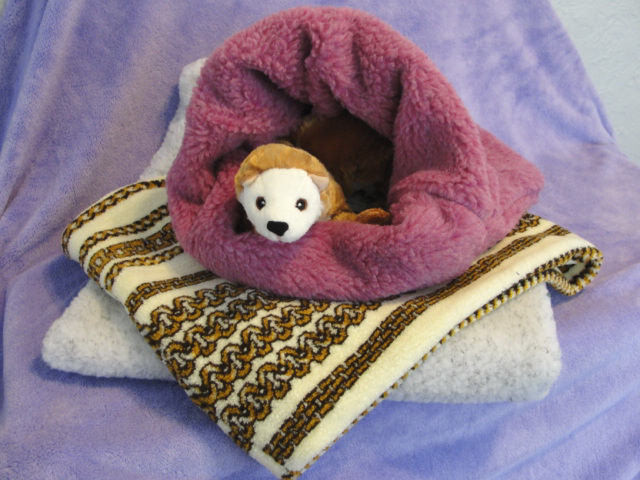 Ferret Berber Faux Fur Plush Sleep Sack
