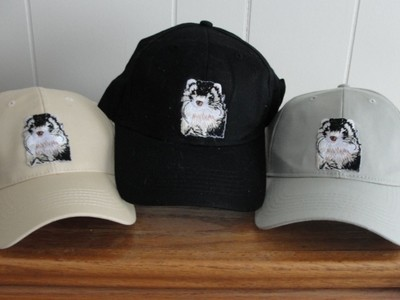 Embroidered Ferret Baseball Hat Cap