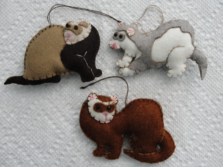 Ferret Ornaments