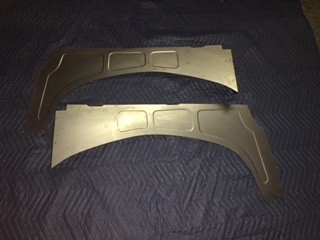 1981-87 Mild Tubz inner fender fillers for -no battery and smooth firewall