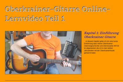 Oberkrainer-Gitarre Online-Lernvideo Teil 1 (Anfänger)