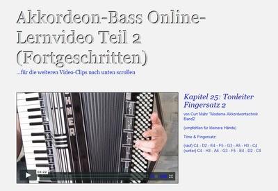 Akkordeon-Bass Lernvideo Teil 2 (Fortgeschritten)
