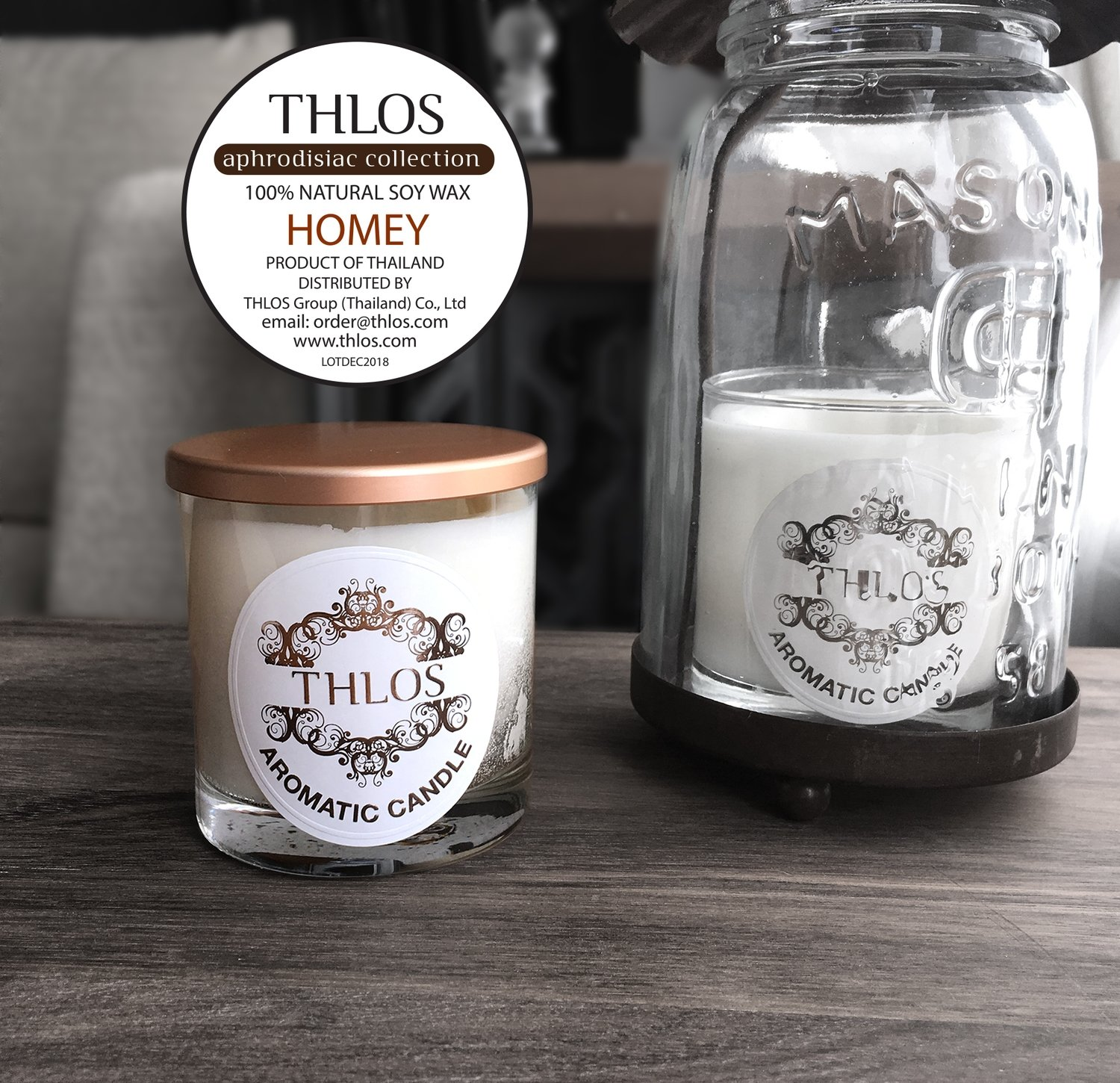 Soy Wax Candle : HOMEY