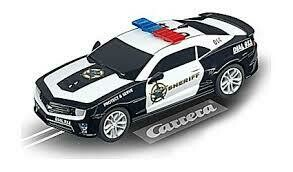 "CARRERA 1/32 CHEVROLET CAMARO ""SHERIFF"" WITH WORKING LIGHTS"