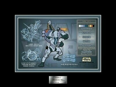 Star Wars - Character Key - 2007 - Limited Edition 1000 - Durge