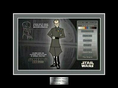 Star Wars - Character Key - 2007 - Limited Edition 1250 - Grand Moff Tarkin (Celebration IV)