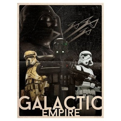 Star Wars - Galactic Empire by Louis Solis Lithograph Art Print