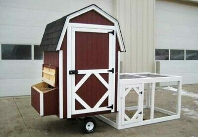 4x4 Gambrel Barn Run Coop Kit