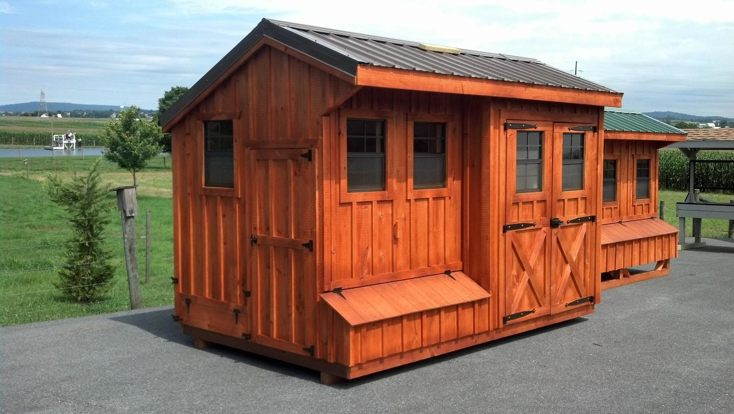Quaker Style Coop Shed 8x14