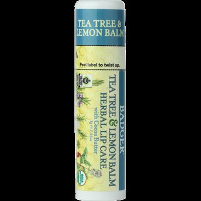 Badger Herbal Cocoa Butter Lip Balm-Tea Tree Oil and Lemon