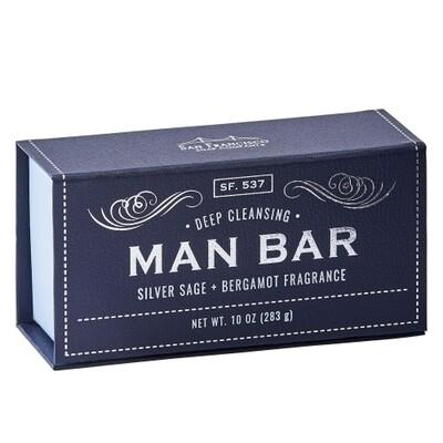 Man Bar-Deep Cleansing Silver Sage and Bergamot Soap