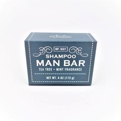 Shampoo Man Bar-Tea Tree and Mint
