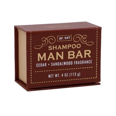 Shampoo Man Bar-Cedar and Sandalwood