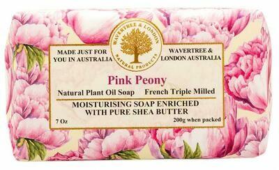 Pink Peony Soap Wavertree and London