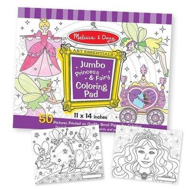 Jumbo Coloring Pad -Princess & Fairy