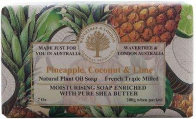 Pineapple Coconut & Lime Soap Wavertree & London
