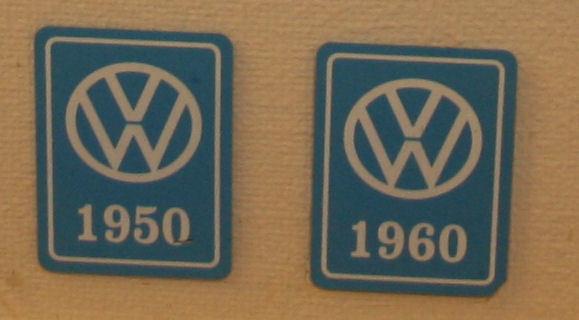 VW Årsmodellmerker 1949-1987