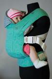 Слинг-рюкзак Karaush Basico  Argento/Lime(бел)двусторонней носки
