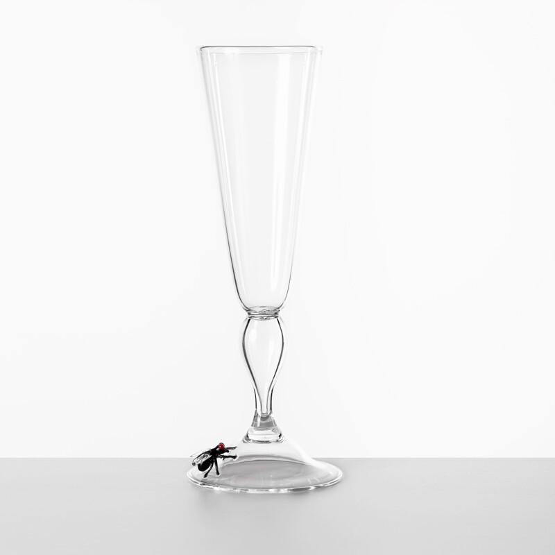 Hand Blown Flute Glass - Vanitas Collection