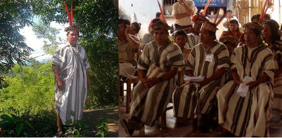 Ashaninka Men in Striped Cushmas