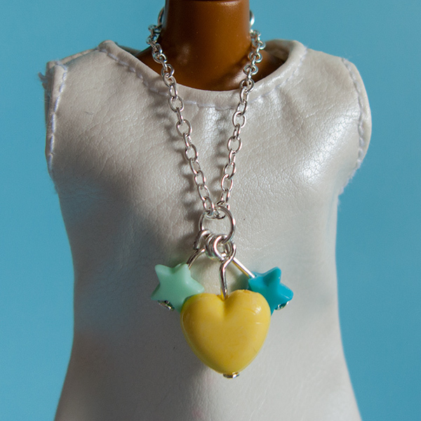 Chain necklace: Yellow Heart