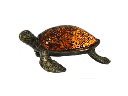 ACCENT LAMP-AMBER SEA TURTLE
