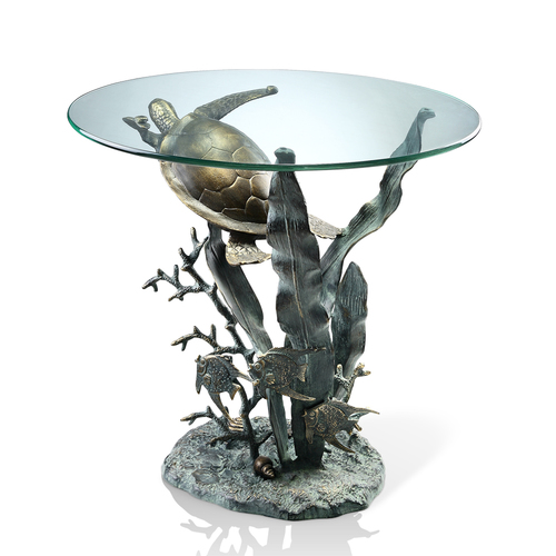 DESIGNER TABLE-SEA TURTLE IN KELP