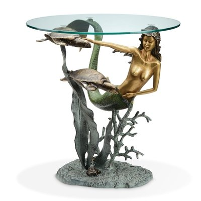 DESIGNER TABLE-MERMAID AND SEA TURTLES