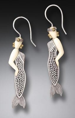 DESIGNER JEWELRY-STERLING SILVER-EARRINGS-