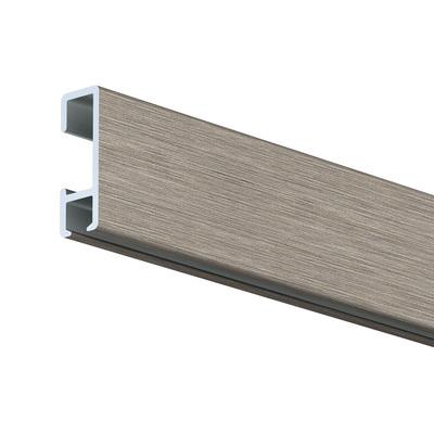 2m Click Rail Brushed Aluminium including standard fixings