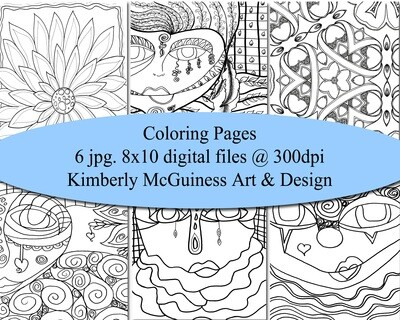 Coloring Pages-Digital Download