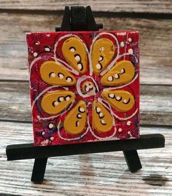 Mini Canvas w/easel
