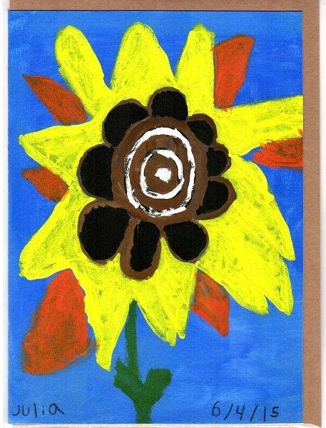 Sunflower Blank Note Card