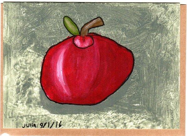 Apple Blank Note Card