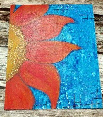 Sunflower on Canvas Panel (8x10)