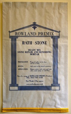 Bath Stone Premix Repair Mortar: 25kg Cement or Lime based mix