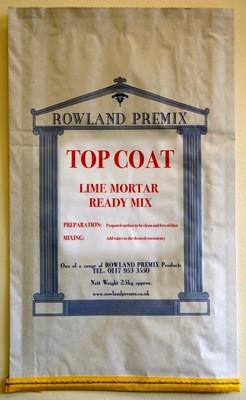 Top Coat Lime Render/Mortar: 25kg