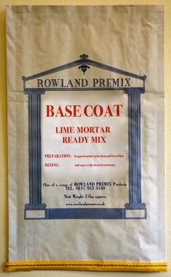 Base Coat Lime Render/Mortar: 25kg