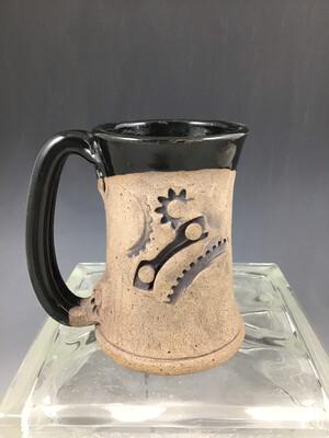 Black/Raw Steam Punk Mug