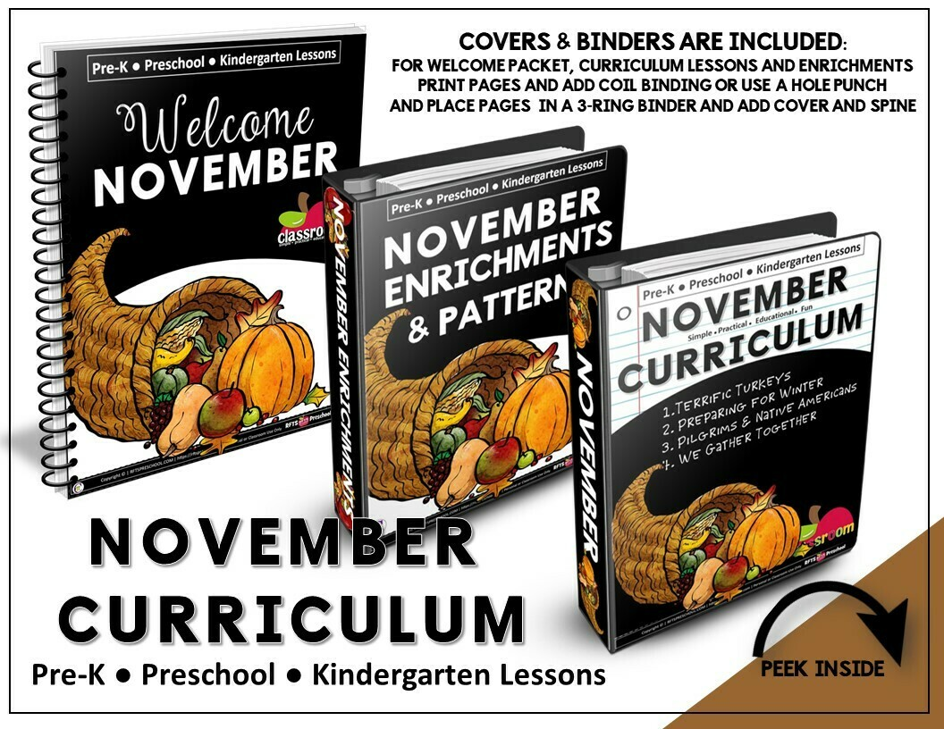 NOVEMBER PREK-KINDERGARTEN CURRICULUM