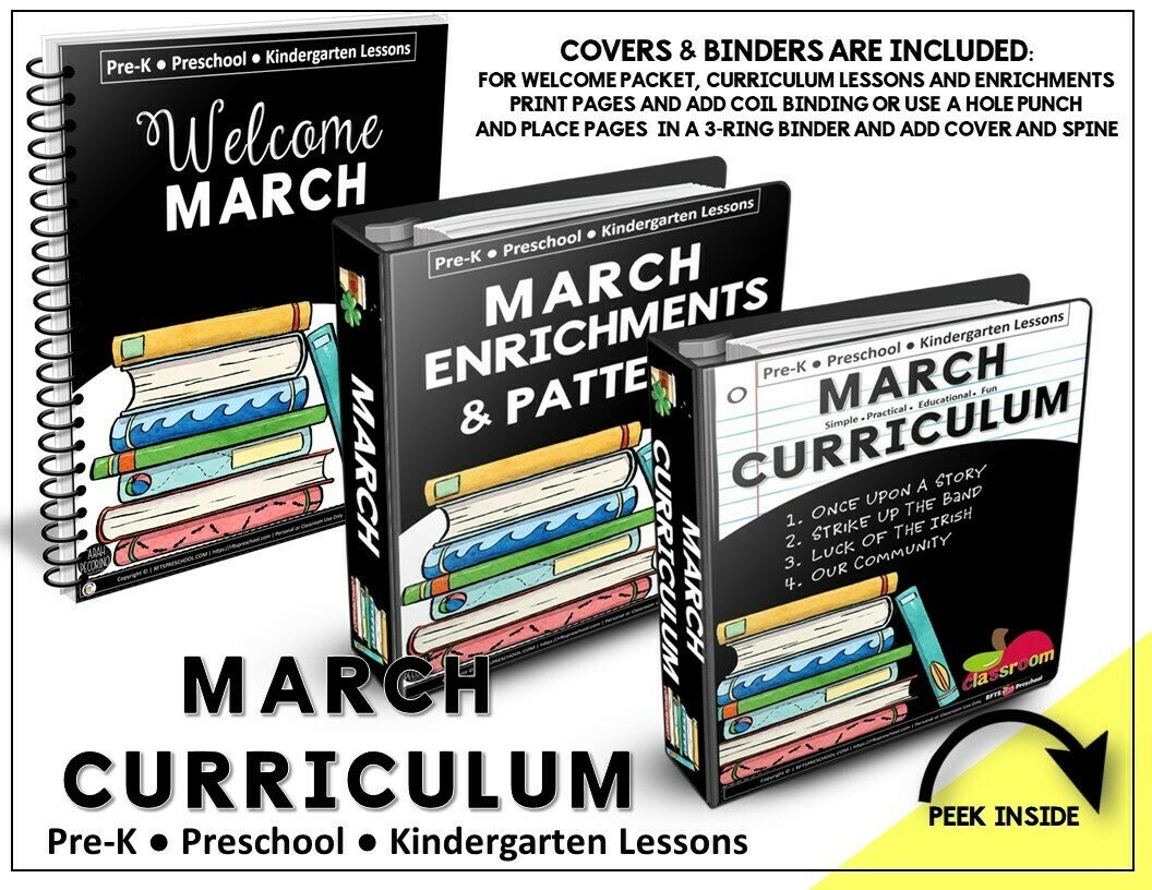 ​MARCH CURRICULUM PREK KINDERGARTEN