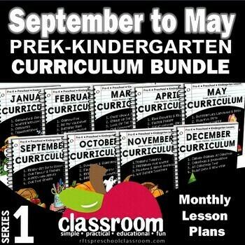 September to May Kindergarten Curriculum Bundle [9 Months] S1