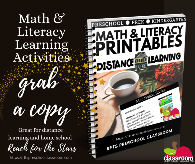 MATH & LITERACY PRINTABLES 4 WEEKS FOR #DISTANCE LEARNING, #AT-HOME LEARNING