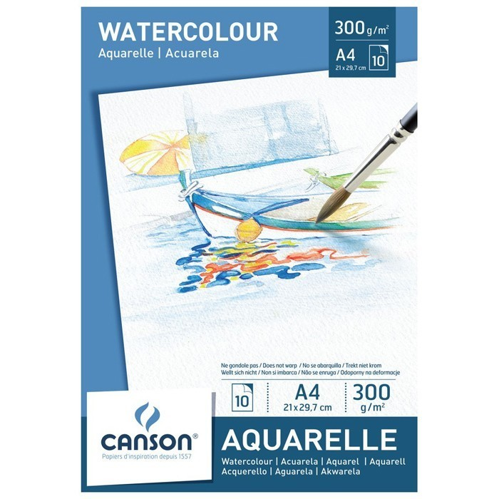 Альбом Canson Aquarelle Drawing Paper A4 300гр 10л