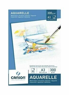 Альбом Canson Aquarelle Drawing Paper A3 300гр 10л