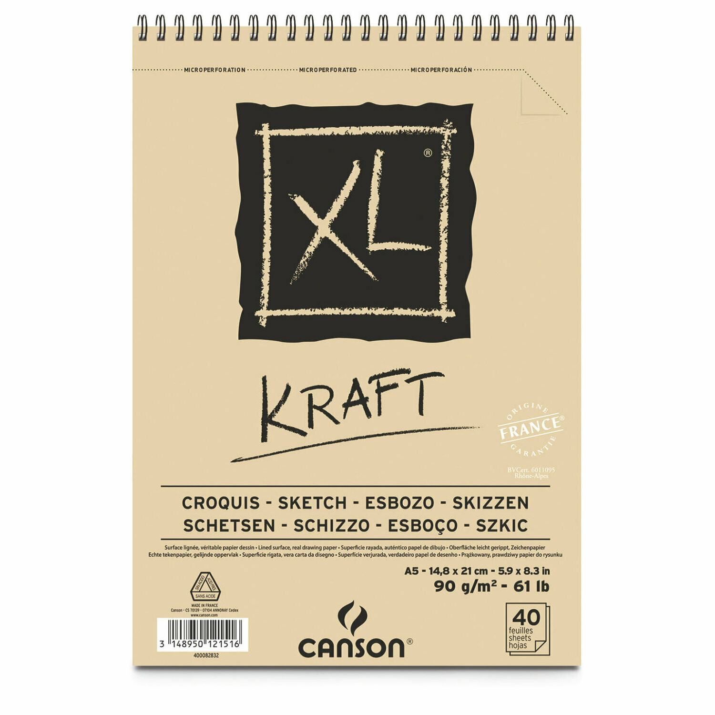 Альбом Canson XL Kraft Paper Pad 90гр, 15х21