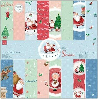 Набор бумаги 30*30 см  - At Home with Santa