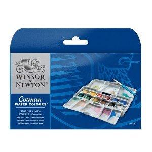 Набор акварельных красок Winsor&Newton 12 в пластиковом пенале