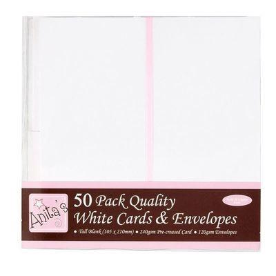 Конверты + заготовка для открыток 10.5*210 см Docrafts (50шт)