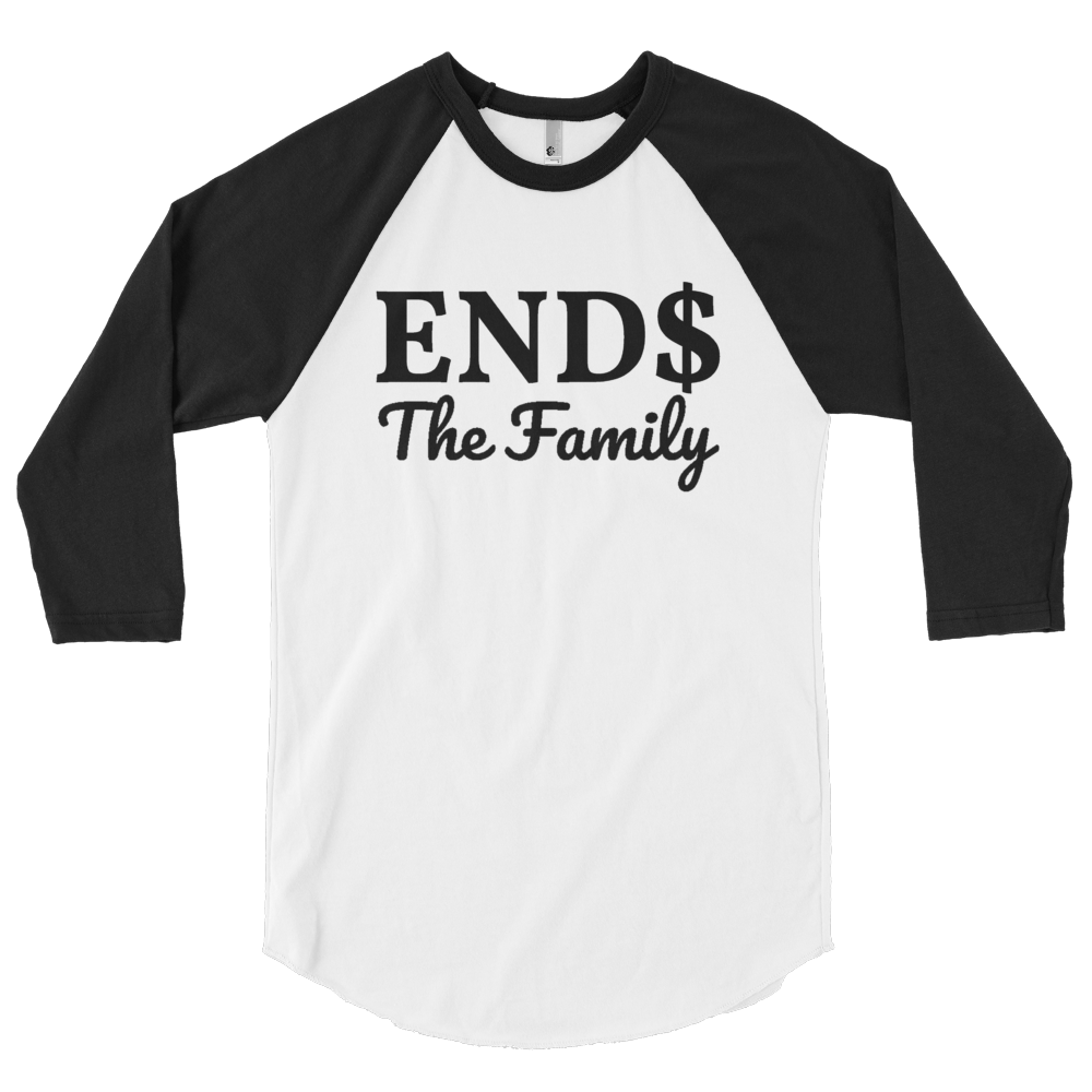 ENDS The Family 3/4 sleeve raglan shirt